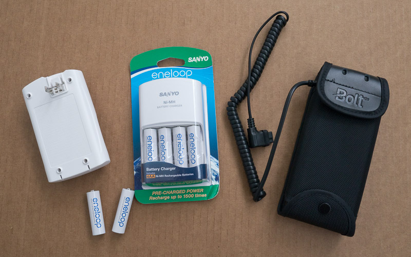 External battery pack for Canon flash