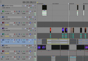Snapshop of the timeline in Sony Vegas