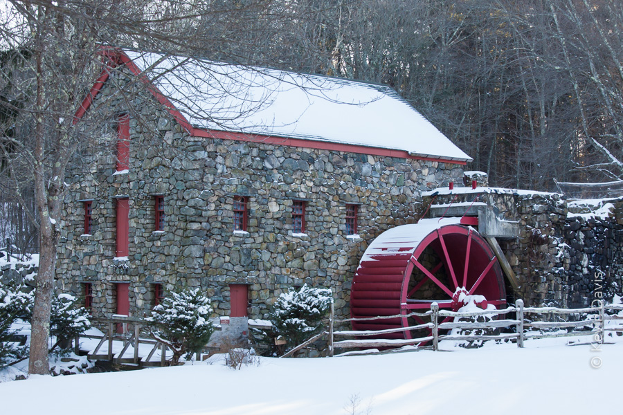 Old grist mill, in winter