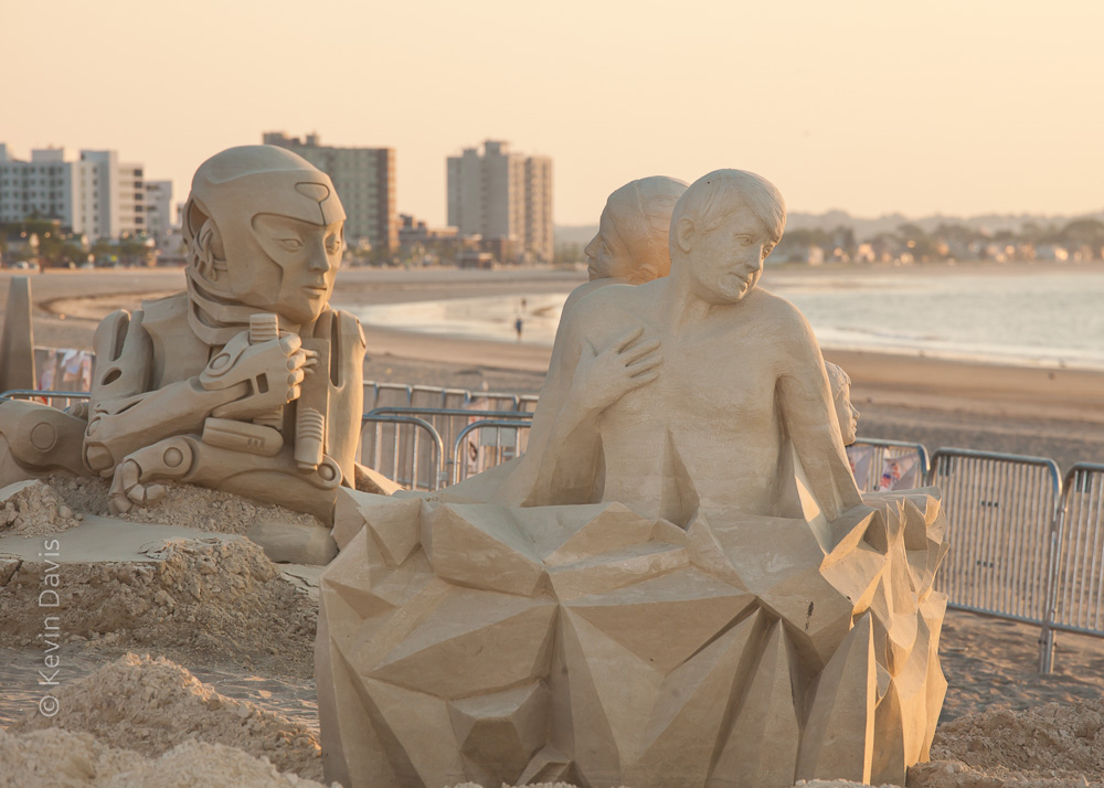 Dawn at Revere Beach Sand Sculpting Competition