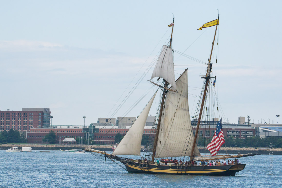 Schooner visits Boston Harbor - OpSail 2012