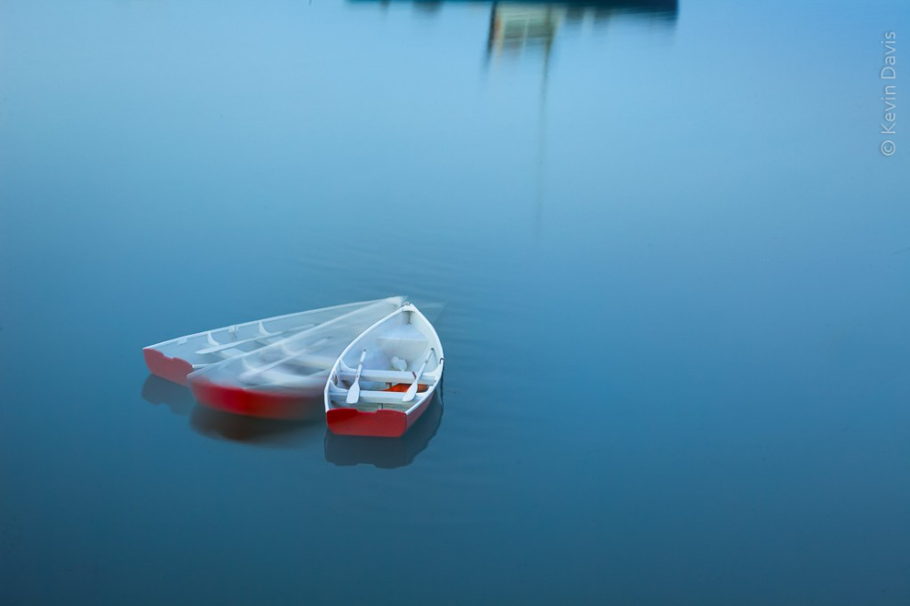 Drifting rowboat, Deer Isle Maine